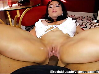EroticMuscleVideos Big Black Cock Versus Big Muscular Clit