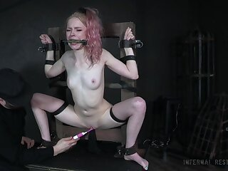Pigtailed pale blonde bitch Alice deserves some of course hardcore BDSM