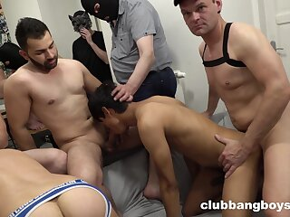 Hunky gay boys go wild while they are enjoying oral increased by anal