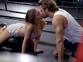 Bosomy musician Josephine Jackson gets intimate with her boxing coach