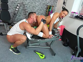Workout turns naughty in this manner sporty skirt thirsty for cock