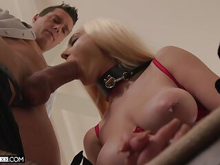 Amazing to see this submissive blonde taking such monster dick