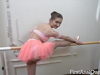 Ballerina sticks rolling in money in the ass for a complete POV shag