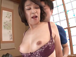 Clumsy shagging at home with Clumsy Japanese full-grown Kitamura Toshiyo