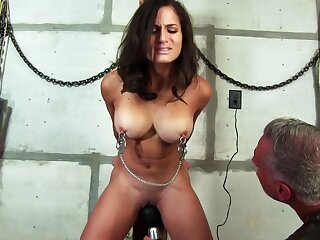 Big Titted Brunette, Chichi Is Having Her Primary Bdsm Admit With Her Bizarre Neighbors Basement