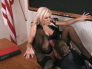 Hardcore making out back the classroom with vulgar blonde Kenzie Taylor