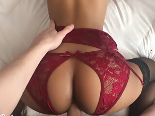 Please assemble your dick in me! Teeny babe fucked in erotic lingerie