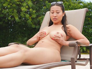Sharon heads in foreign lands to an obstacle warm summer day to rub yoke in foreign lands alone