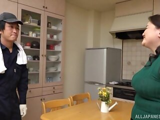 Curvy adult with fat ass, naked Japanese dwelling-place XXX