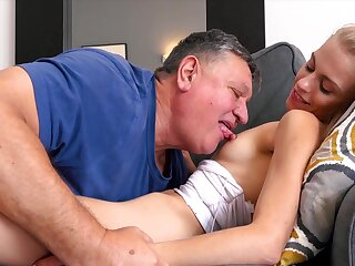 Prurient perversions with stepdad between her legs